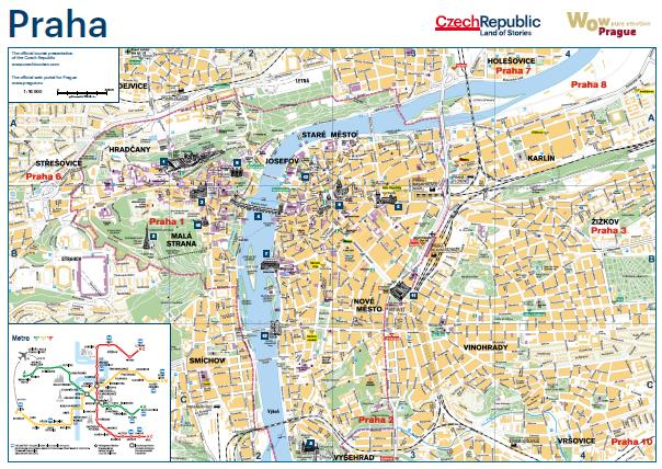 Map of Prague with City Guide